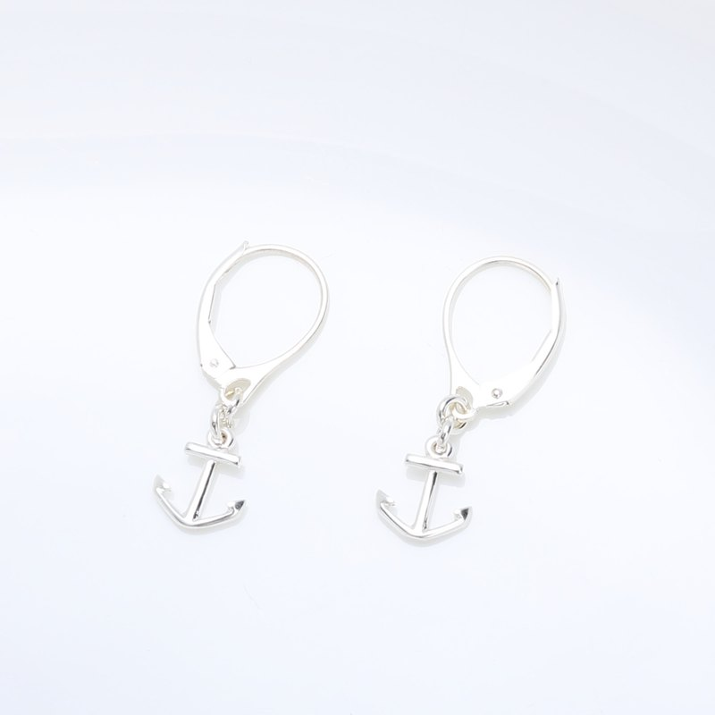 Hope Anchor Sailor s925 Sterling Silver earrings (changeable ear clips) gift