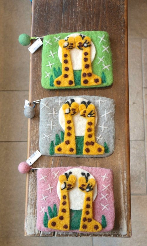 Giraffe Good Machi wool felt packet BJ1609121