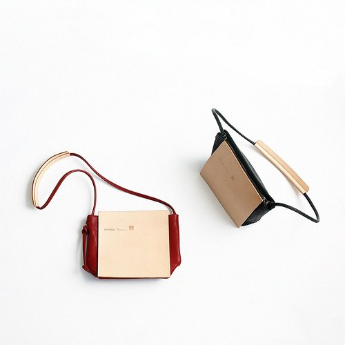 Bodhi says FOSTYLE handmade tanned leather bag purse slung baotou header leather simple shoulder bag red
