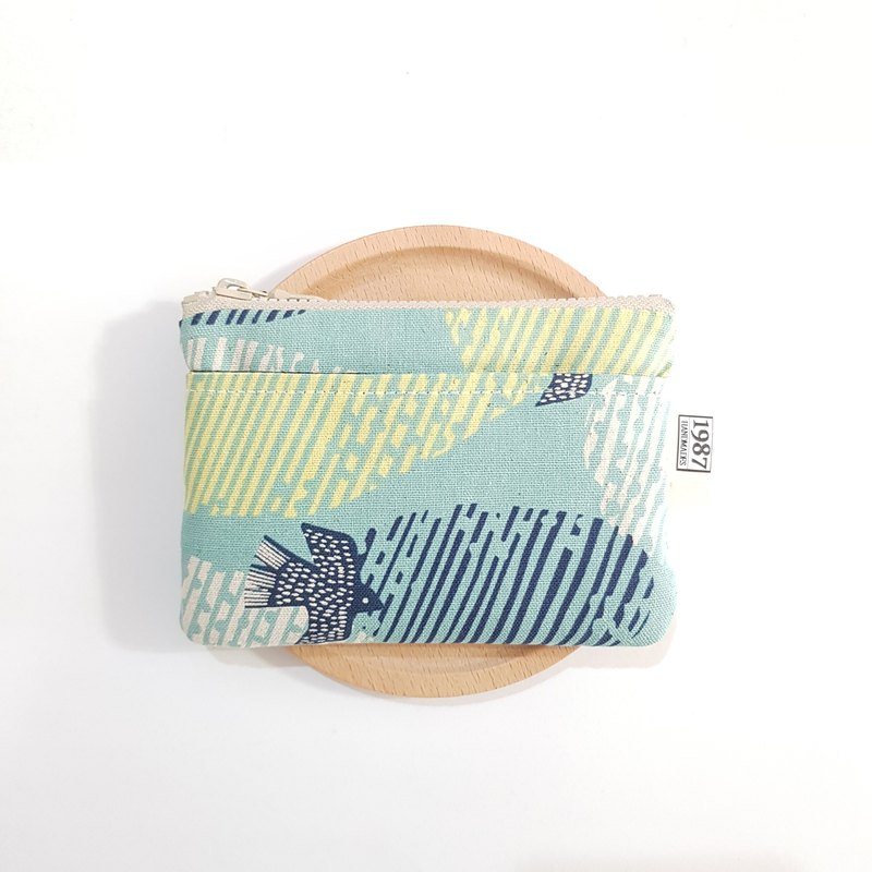 [Dream Bluebird] Coin Purse Clutch Carrying Zipper Bag Christmas Exchange Gift