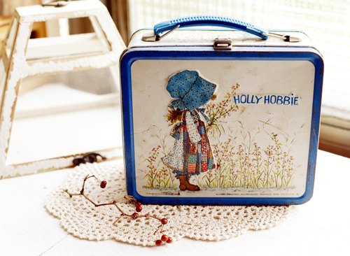 [Good day] Netherlands fetish antique Holly Hobbie lunchbox
