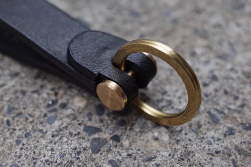 Build a key ring / strap handmade hand-stitched yak leather
