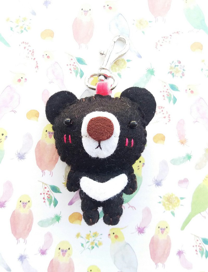 Little dog design Taiwan black bear charm