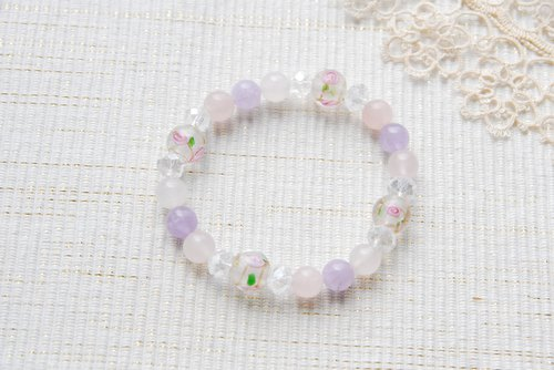 Clear bracelet of new color rose dragonfly ball