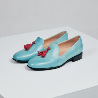 H THREE Loafers / water blue / flat