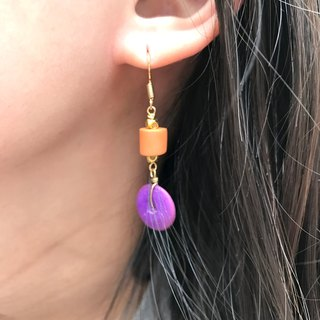 Why Not? Also! Coconut Shell Earrings PURPLE