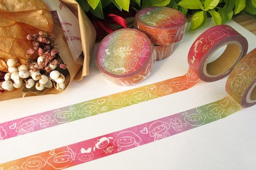 Small mushroom paper tape - colorful graffiti