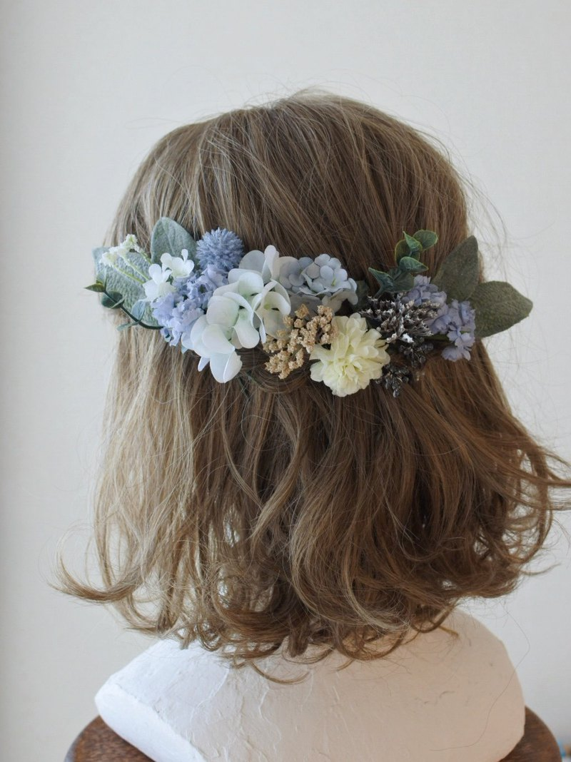 Hand-dyed floret headdress