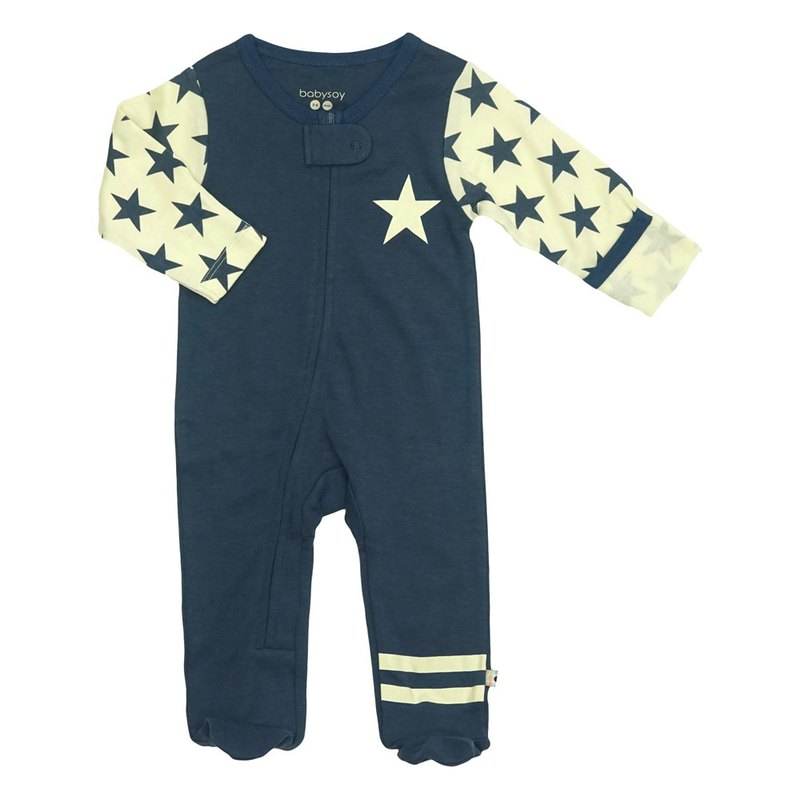 [Pre-order] American Babysoy-organic cotton Zhang Qing retro star footsuit jumpsuit