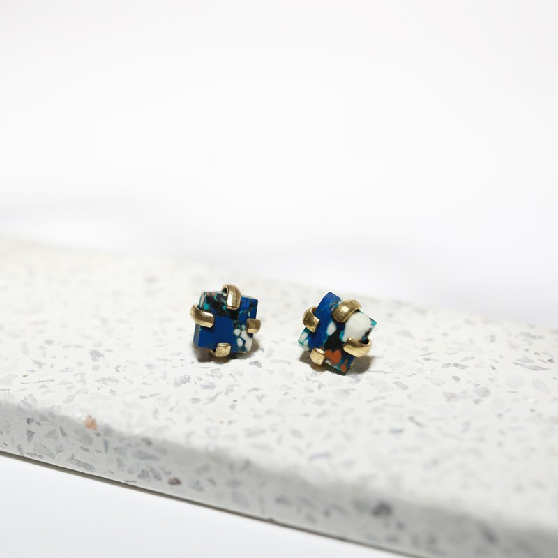 Blue earrings _ fair trade
