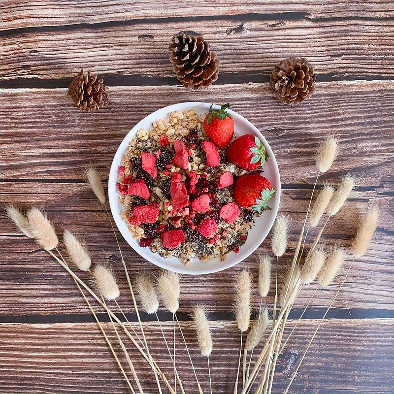 【高纖瘦身早餐】即食燕麥片-草莓,奇亞籽,蔓越莓 Slim Fit Hero