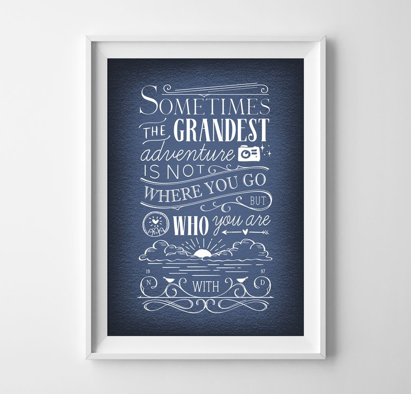 Grandest adventure customizable poster