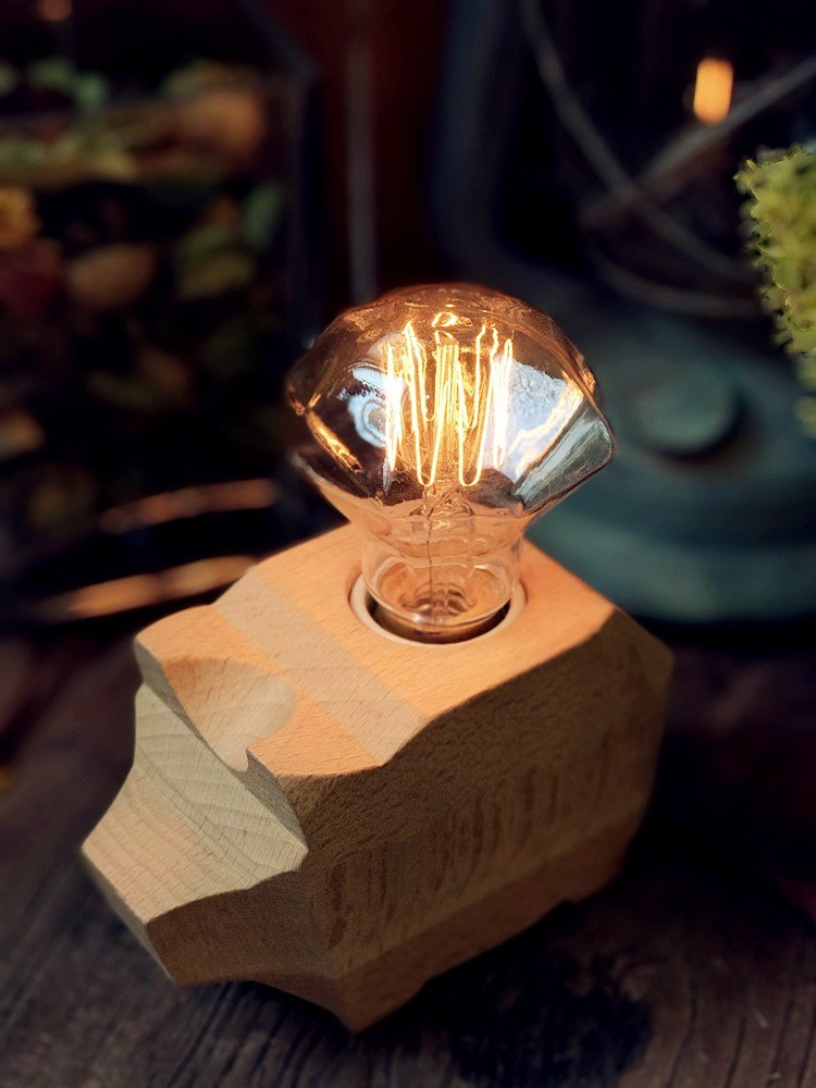 - Jin Space Design - Christmas Exchange Gift Box / Beech Hard Tin Canopy Group - Small Diamond Bulb / Free Shipping