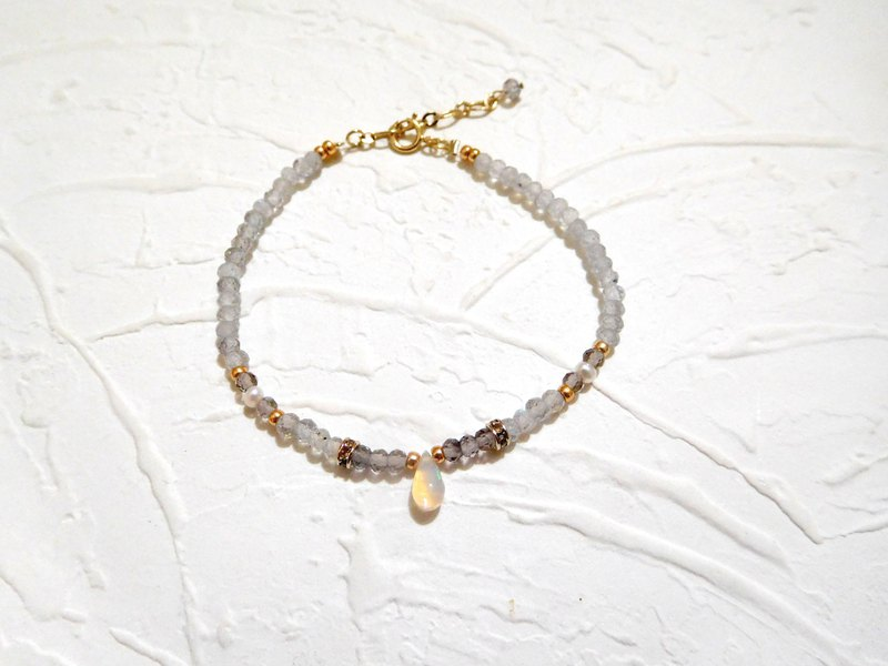 Water droplet type super beautiful opal ice meteorite labrador bracelet