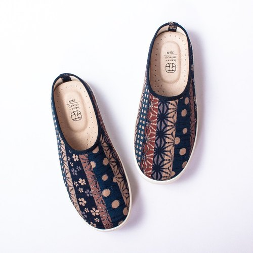 Lazy Day | Autumn Day Floral Shoes. Japanese Fabric. Office Recommendation. Leather Insole