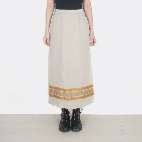 (Special) cotton decorative stripes and vintage high waist skirt AR2006