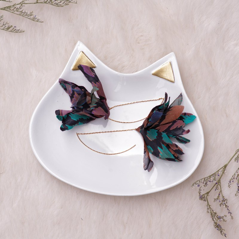 Fergie |  Earrings - Fabric flower gifts