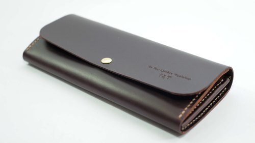 [Manual] Be Two long clip / leather wallet / zipper large capacity / double-bit card / leather bag
