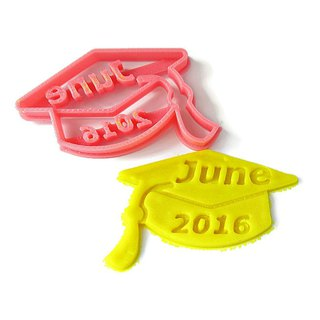 Custom Graduation Cap Cookie Cutter, Personalized with Graduate Name and Year