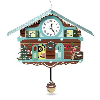 Forest Cuckoo Clock Christmas Card 8 into [Up With Paper MoMA-card Christmas Series]