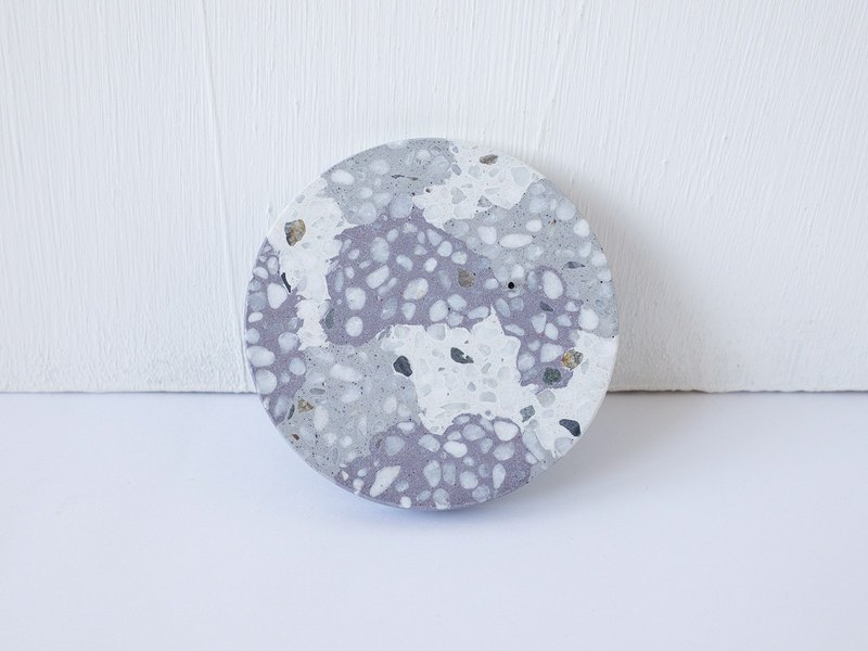 No Sight Room│The only non-gray and purple mosaic terrazzo cement coaster