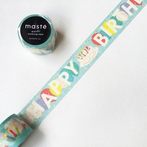 maste and paper tape Multi Amazing Life Series Happy Birthday (MST-MKT163-A)]