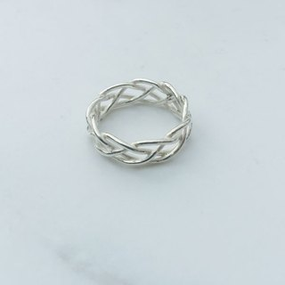 Big staff Taipa [handmade silver] woven sterling silver ring