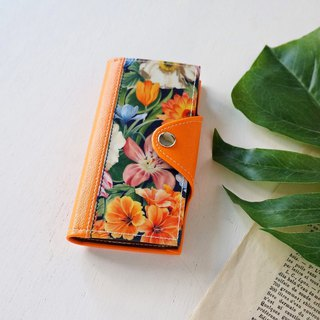 Passion Orange iPhone case Liberty notebook type smartphone case