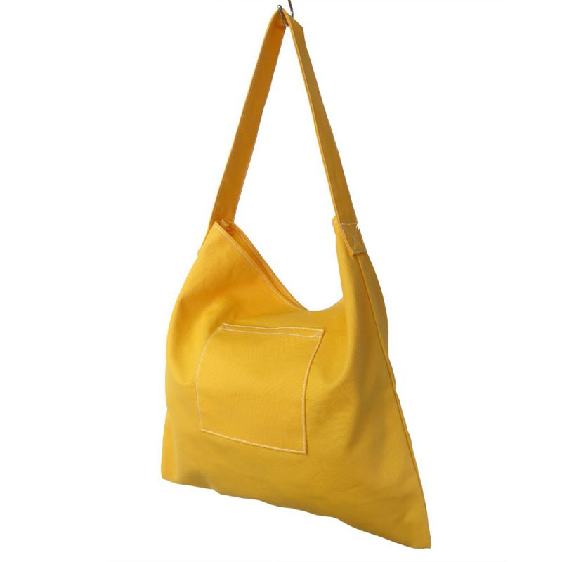 Plus 1 Pale Yellow Canvas Shoulder Bag