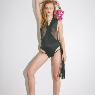 Try swimwear drape pants in black