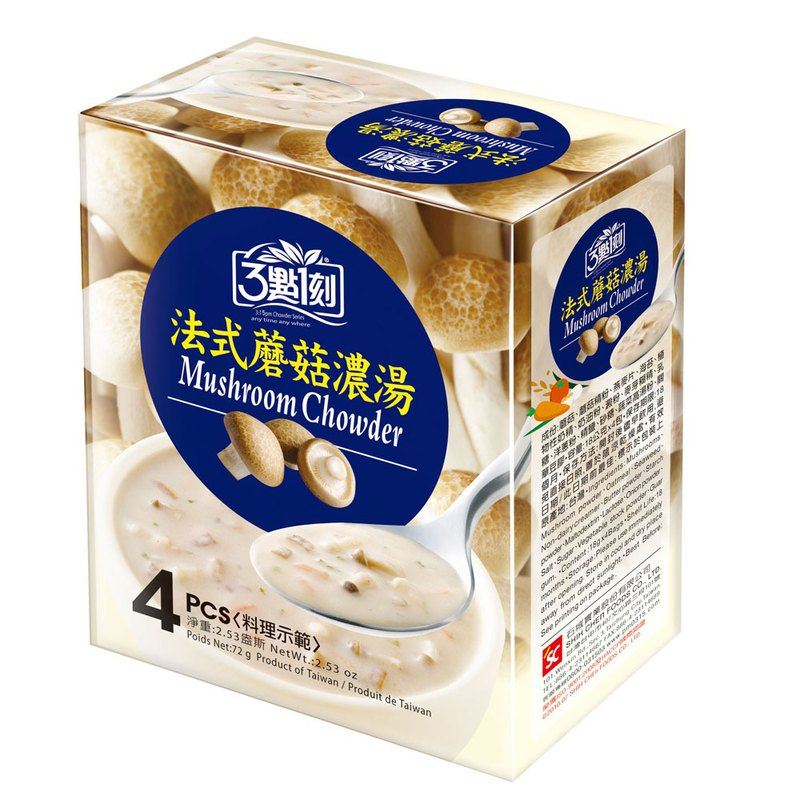 [3:1] French mushroom soup 4 in / box