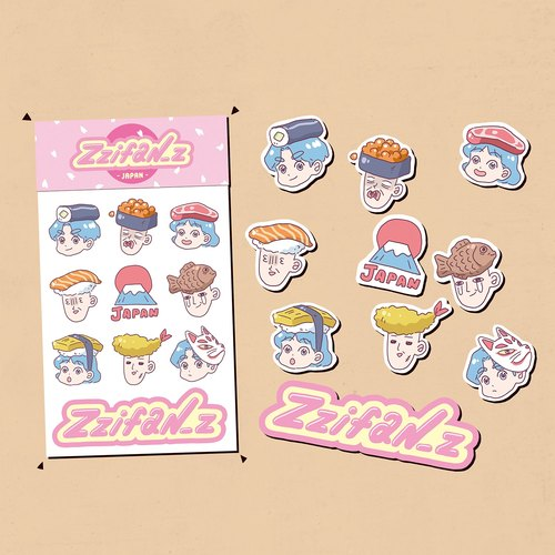 Chiffon Zzifan_z Japan Sticker Group Chiffon