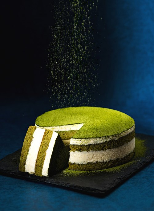 "[Leaine French handmade dessert] Top grade thick green tea tiramisu cake / 6 吋 ""# highest level Shizuoka pure green tea powder # sweet not astringent"