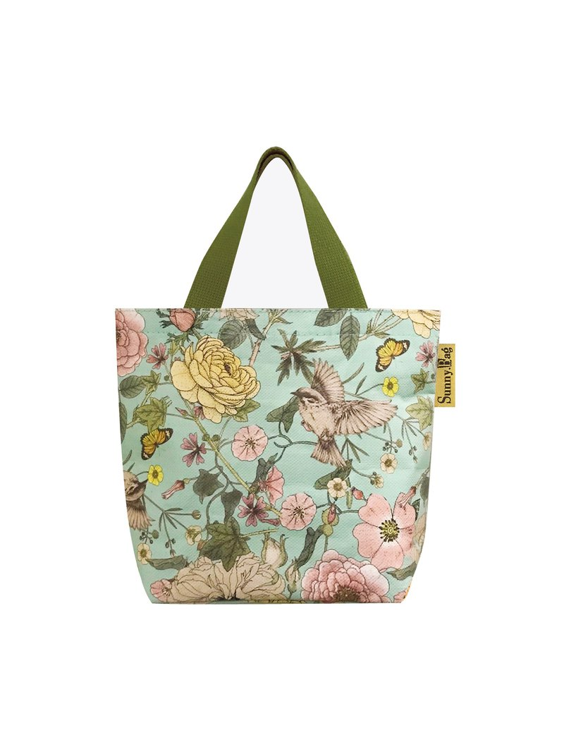 Sunny Bag-cotton tote bag (small) - flowers and birds