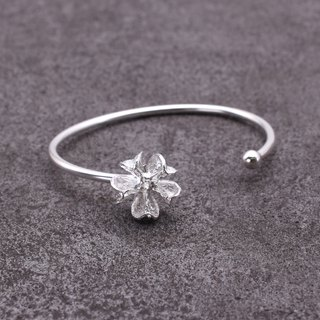 Common Crepe Myrtle Fruit Silver Bangle - Nature Plant