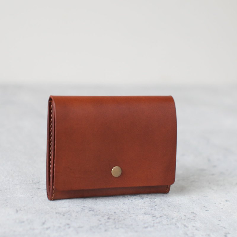 Brown leather card holder/wallet