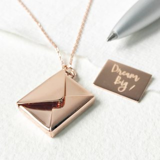 Medium Letter Envelope Necklace - Large Version Long Chain | Custom Gift
