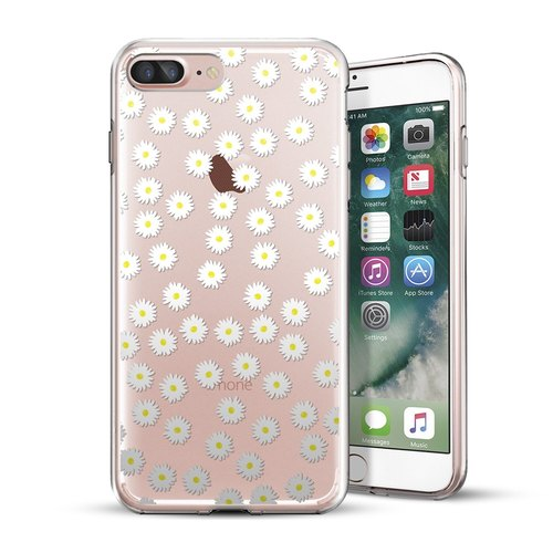 AppleWork iPhone 6 / 6S / 7 Plus Original Design Protective Case - Small Daisy CHIP-064