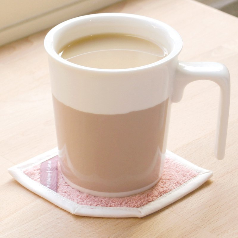 [Desk essential] English milk tea-kiss mug + cotton absorbent coaster gift box / can be purchased with cover