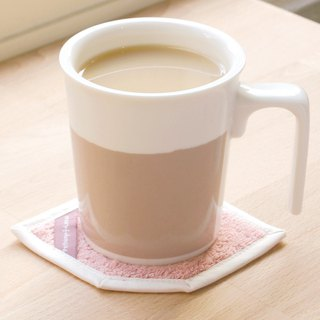 [Drink good office] British tea kiss mug cotton coaster ceremony