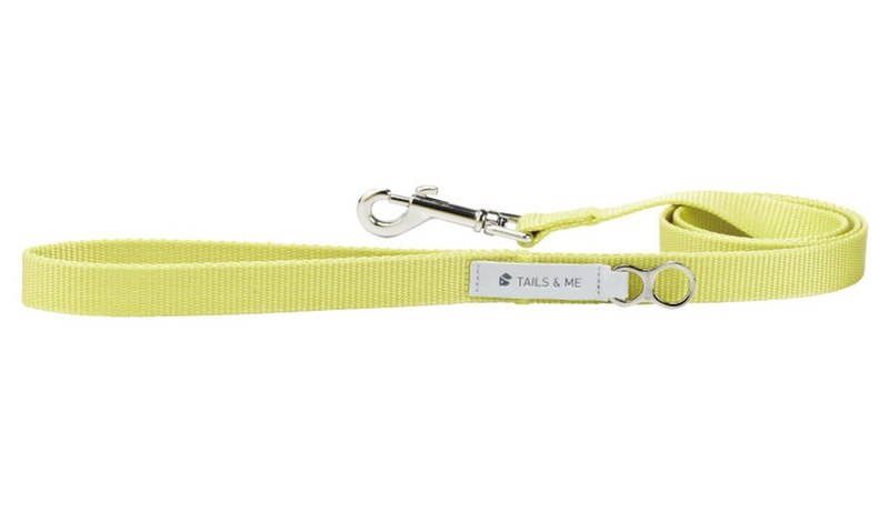 [Tail and me] Classic nylon belt leash lemon yellow M