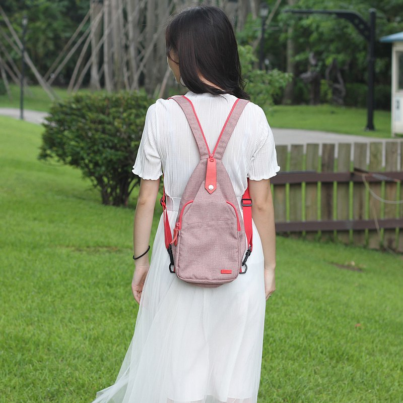 City Light Back Crossbody Bag [Mist Rose]