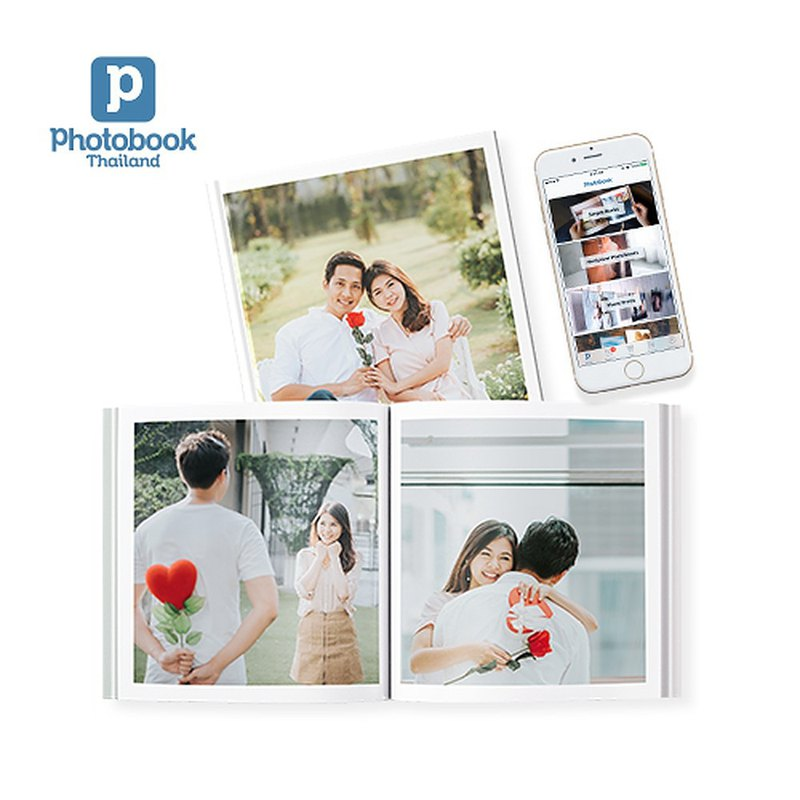 (Photobook App Exclusive) 20-Page Personalised 6 x 6 Hardcover Simple Photoboo