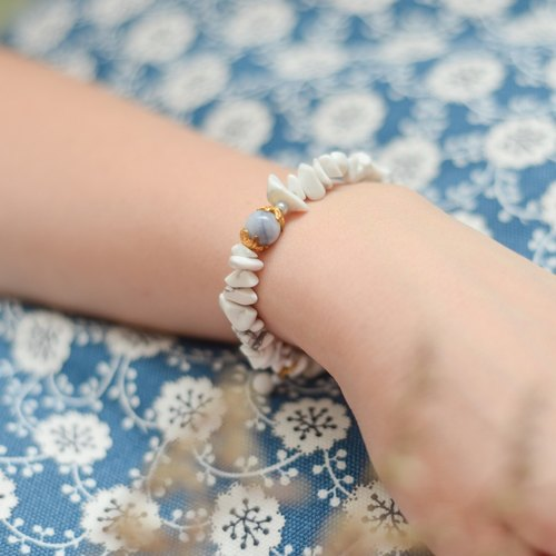 a beautiful handmade real marble with stones bracelet by niyome craft