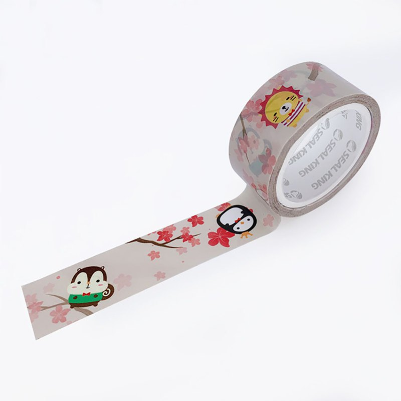Squly & Friends Decoration Tape (Spring Sakura) | Notebook Deco/Masking Tape