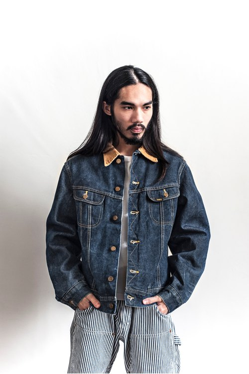 Vintage Lee Storm Rider heavy denim vintage coat