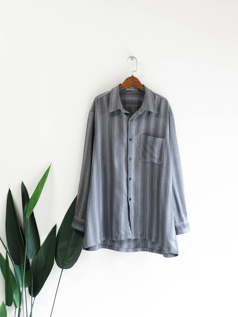 Silent gradient marble gray line quiet night antique shirt blouse shirt shirt vintage