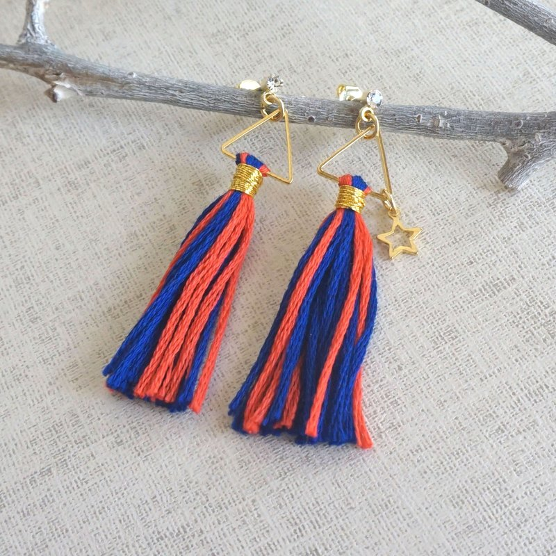 "original tassel pierced earring ""passion"""