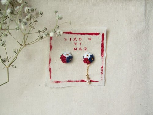 Small artisan siaoyimao. Rose flower series pearl earrings / stainless steel ear acupuncture can be changed clip
