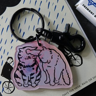 Cat OUCH! Key ring